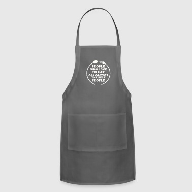 Culinary Best People Love to Eat Food Gift - Adjustable Apron