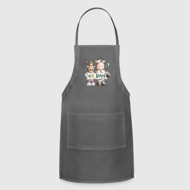 Go Vegan - Veggie - Vegetable - Cartoon - Gift - Adjustable Apron
