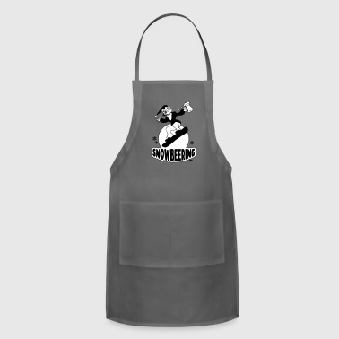 Snowbeering or snowboarding - Adjustable Apron