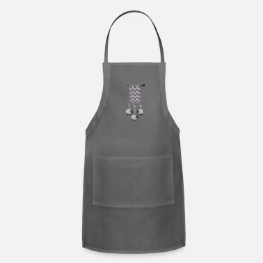 Wool sheep knitting wool - Adjustable Apron