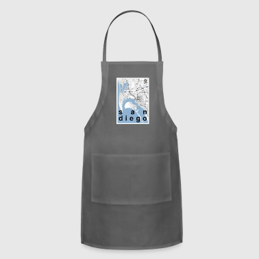 san diego hipster bw - Adjustable Apron