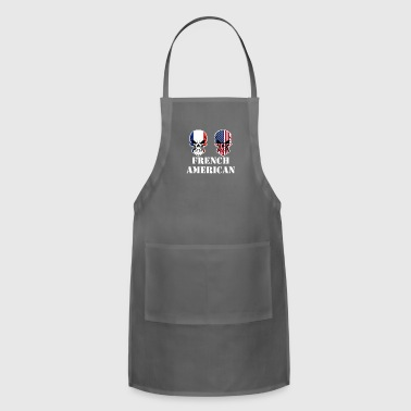 French American Flag Skulls - Adjustable Apron