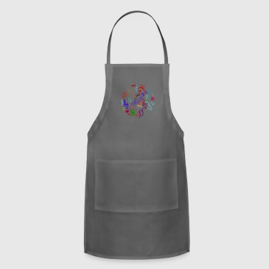 music signs - music notes - Adjustable Apron