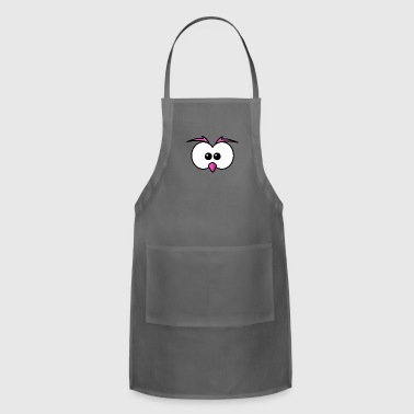 Eyes with beak and eyebrows pink - Adjustable Apron