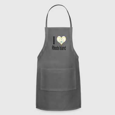 Symbols & Shapes I Love Rhode Island Heart Country USA gift flag - Adjustable Apron