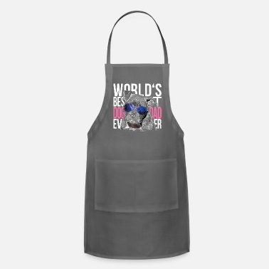 Fashion Pittbull Lover World's Best Dog Dad Ever Fashion - Apron