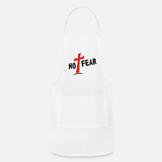 No Aprons - No Fear - Apron white
