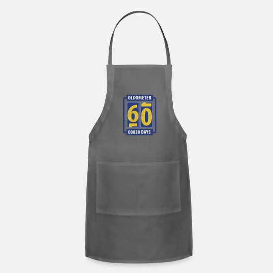 Party Aprons - Oldometer, age indicator - Apron charcoal