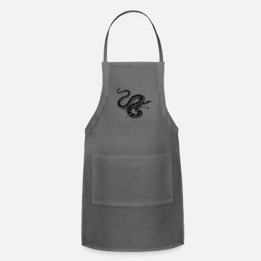 Grey Anaconda snake gift gift idea - Adjustable Apron