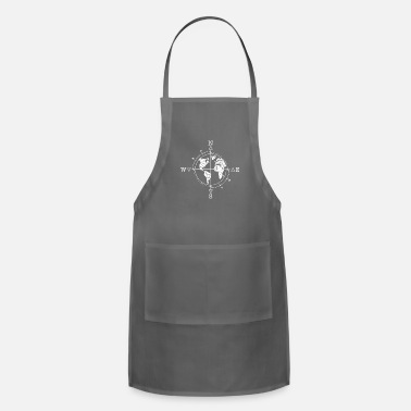Gypsy Time elements / gift, compass, world, travel - Adjustable Apron
