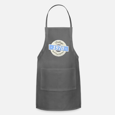 Birthday 50th birthday 1970 gift vintage aged to perfection - Adjustable Apron