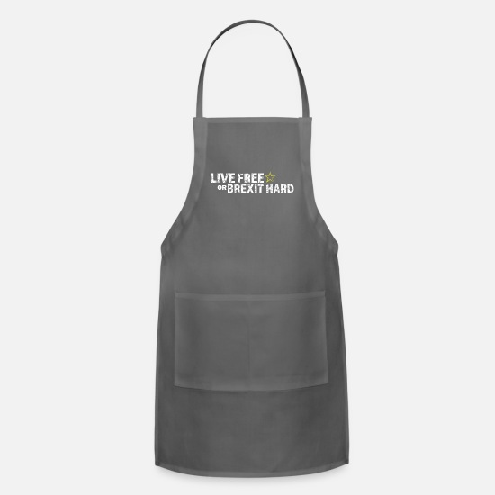 Anti War Aprons - Anti Brexit - Apron charcoal