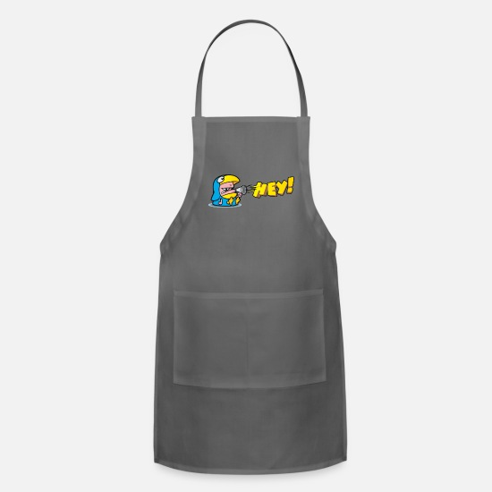 Tiger Aprons - The bird mascot - Apron charcoal