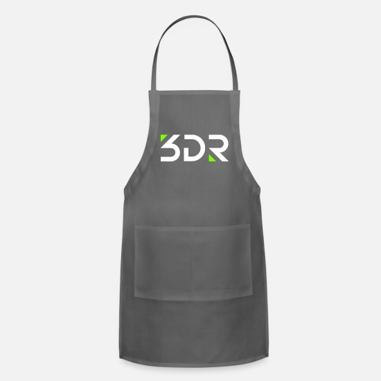 Red Wine Aprons - 3dr logo white - Apron charcoal
