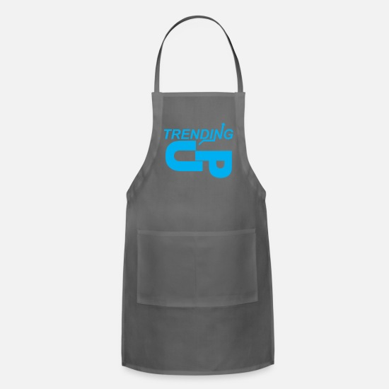 Blue White Aprons - Blue Up Trending - Apron charcoal