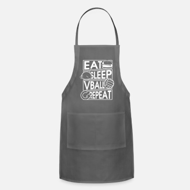 Caterpillar Eat Sleep Vball Repeat Volleyball Geschenk - Adjustable Apron