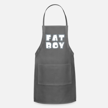 Fat body fat fat lifting bodybuilder man bold fat diet - Apron