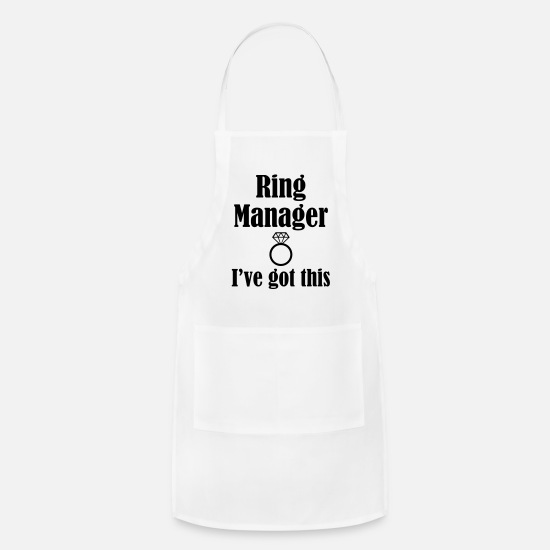 Wedding Ring Aprons - Ring Manager, I've Got This, Wedding Ring - Apron white