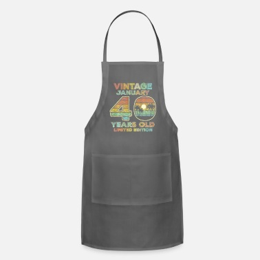 Teerich 40th Birthday Gift Vintage January 1981 - Apron