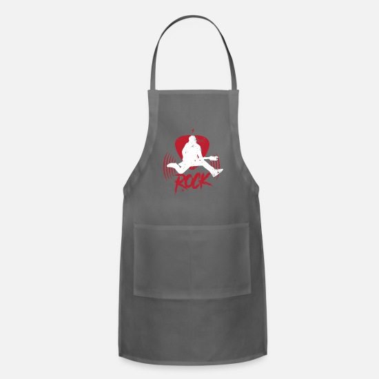 Song Aprons - Music Pop Rock Jazz Gospel Rhythm Gift Idea - Apron charcoal