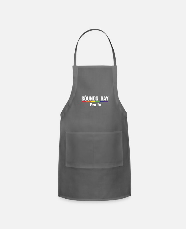 Sounds Aprons - Sounds Gay I m In - Apron charcoal