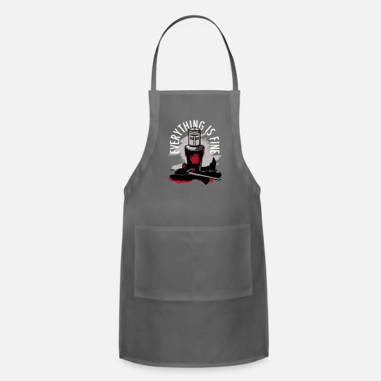 Fine Aprons - Everything Is Fine - Apron charcoal