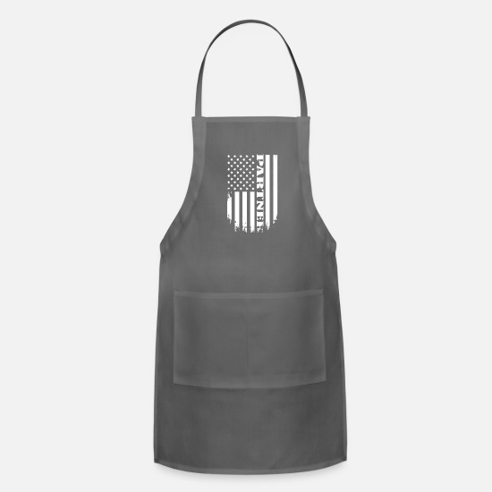 Love Aprons - Proud Partner of America - USA PARTNER T-SHIRT - Apron charcoal