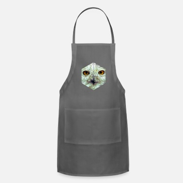 Sumu Lee Snow Owl - Cool Graphic Mysterious Wildlife - Apron