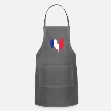 French France Gallic Rooster In French Flag Color French - Adjustable Apron