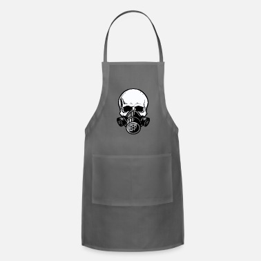 Skull Skull with Gas Mask - Apron