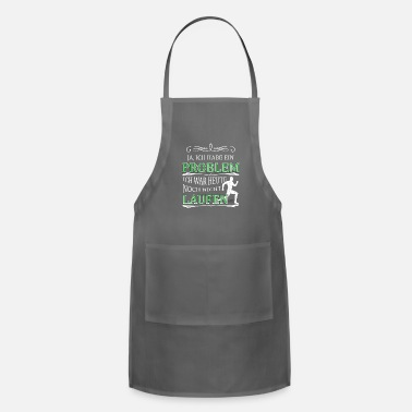 Funny Running Running funny quote gift - Adjustable Apron