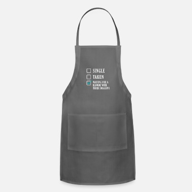 Wait waiting for a blonde - Adjustable Apron