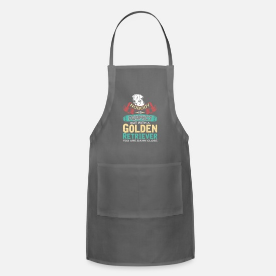 Golden Aprons - Golden Retriever - Apron charcoal
