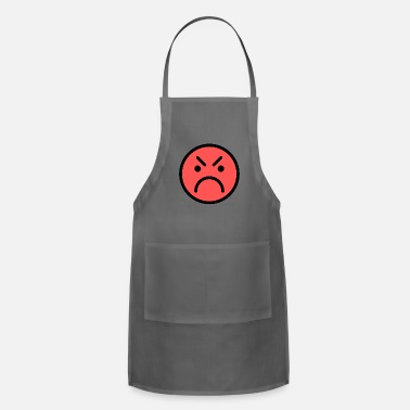 Red Face Smiley Face Red Angry Face - Apron