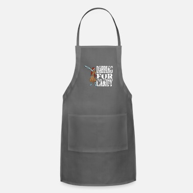 Funny Halloween Zombie Girl Dabbing For Candy. - Adjustable Apron
