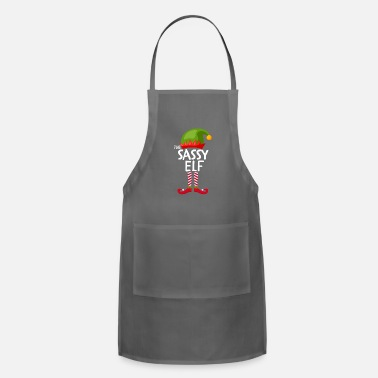 The sassy Elf Family group Matching Christmas - Apron