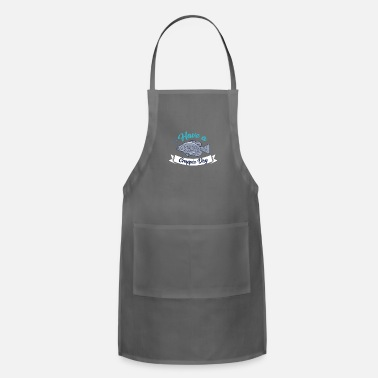 Crappie Fishing FISHING: Have A Crappie Day - Adjustable Apron