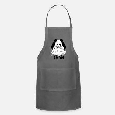 Manga Cute Hand Drawn Panda with Kanji Weirdo - Apron