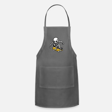 Streetwear T shirt skeleton skateboard streetwear vector cool - Adjustable Apron
