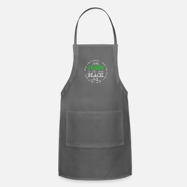 Enviromental Green Is The New Black | Nature Earth Planet Gift - Adjustable Apron