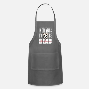 Family Drinkware In Dog Years - white print - Apron