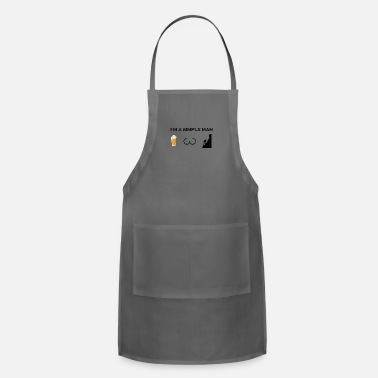 simple man boobs bier beer titten hiking klettern - Apron