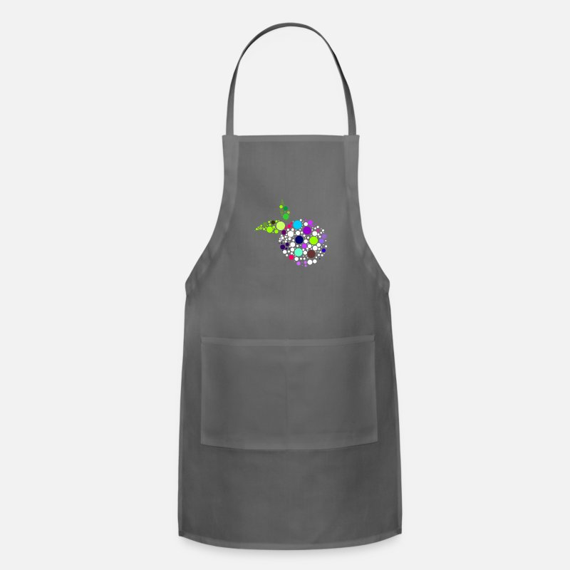 Birthday Aprons - Colour Fruits - Apron charcoal