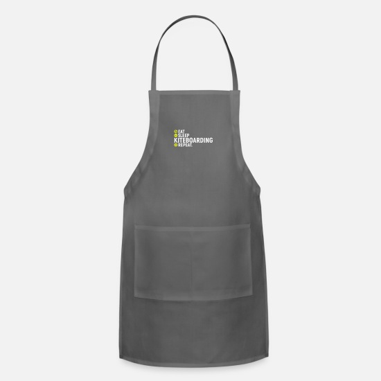 Gift Idea Aprons - Eat, sleap, kiteboarding, repeat - gift - Apron charcoal