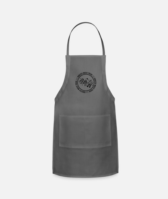 Dub Aprons - dubstep_music_freak_sy1 - Apron charcoal
