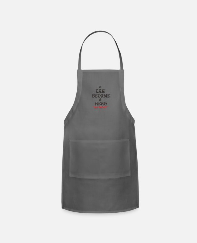 All Might Aprons - ALL MIGHT QUOTES2 - Apron charcoal