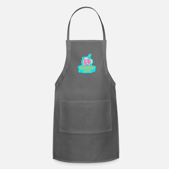 Travel Aprons - summer - summer thirst - Apron charcoal