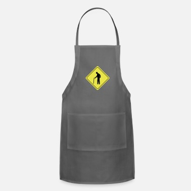 Dude caution old dude - Apron