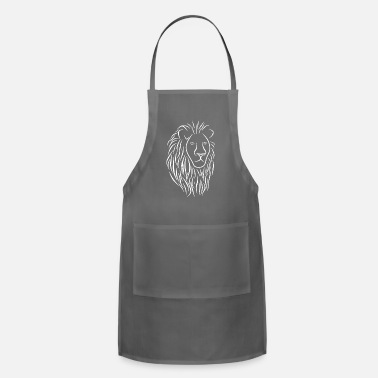 Lovely Cat &amp Lion Face Head Portrait - King Of The Jungle - Apron