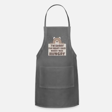 Stomach Bear hunger excuse funny gift shirt - Adjustable Apron